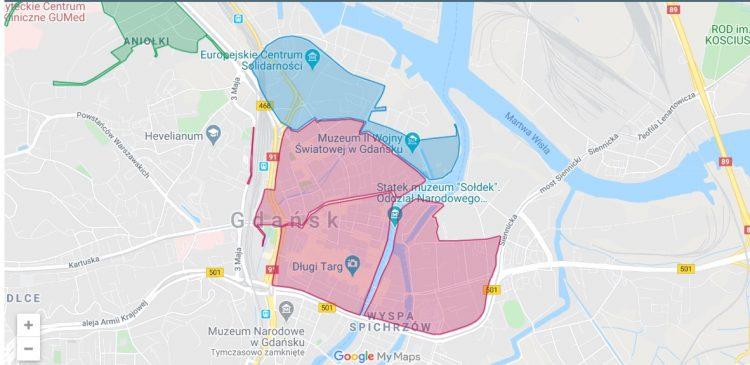 Gdansk parking zones