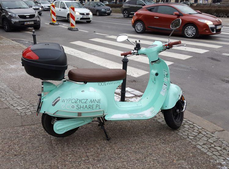 Electric motorbike sharing in Gdansk