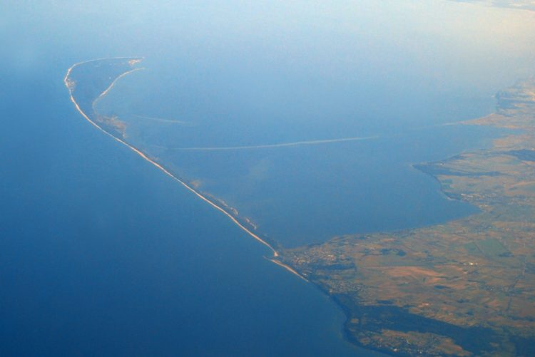 Hel Peninsula seen from the plane