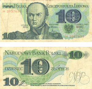 Gdansk currency old 10 zlotych
