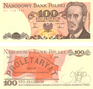 Gdansk currency old 100 zlotych