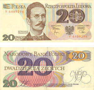 Gdansk currency old 20 zlotych
