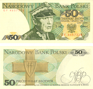 Gdansk currency old 50 zlotych