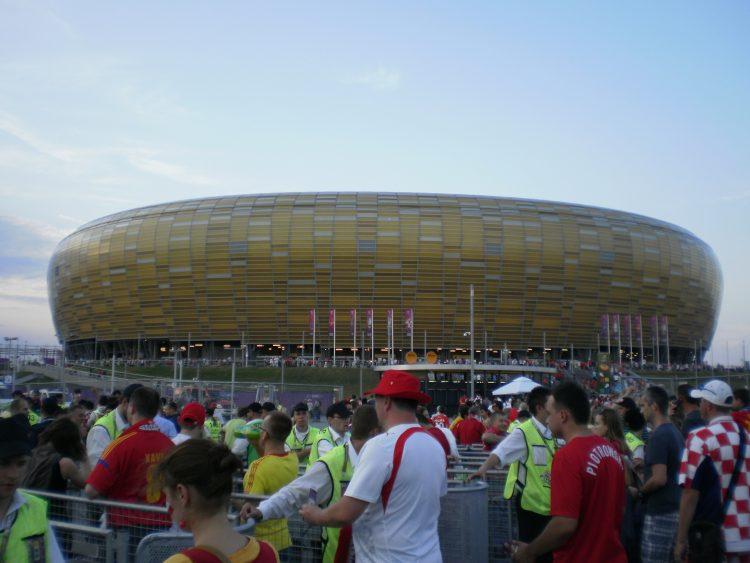 Gdansk on a rainy day - Energa Gdansk Stadium