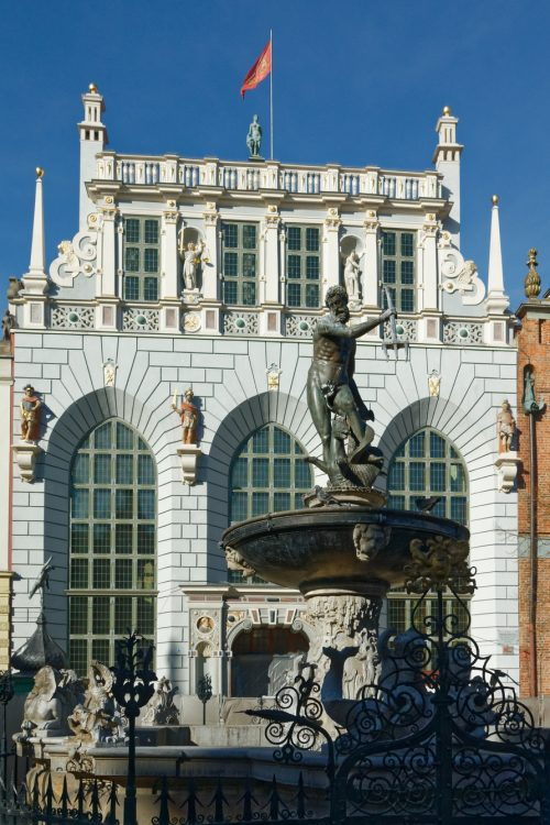 Gdansk - Neptuno Fountain and Artus Court