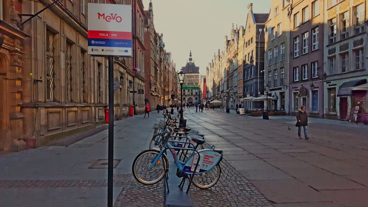 Mevo - bike station in the of centre Gdansk