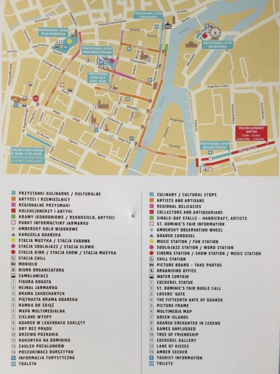 St Dominic Fair in Gdansk Map