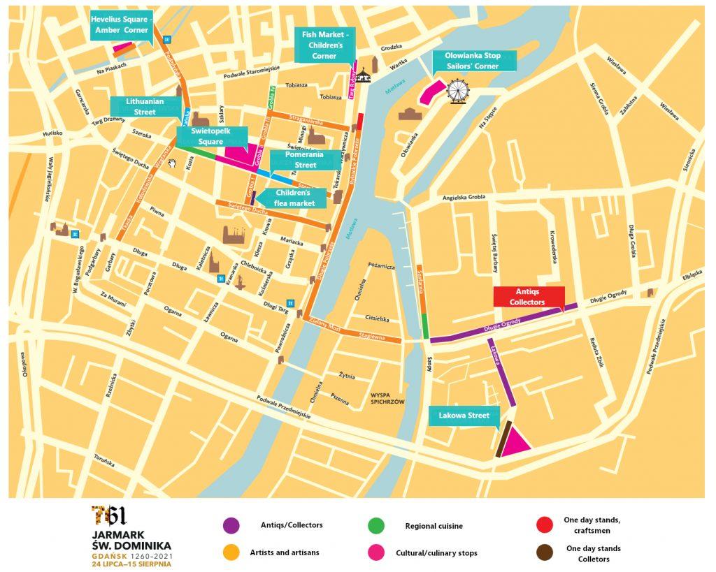 St Dominic Fair in Gdansk map for 2021